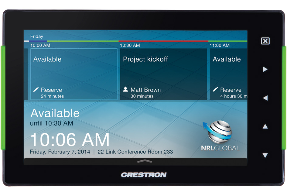 More info on           Crestron Room Scheduler