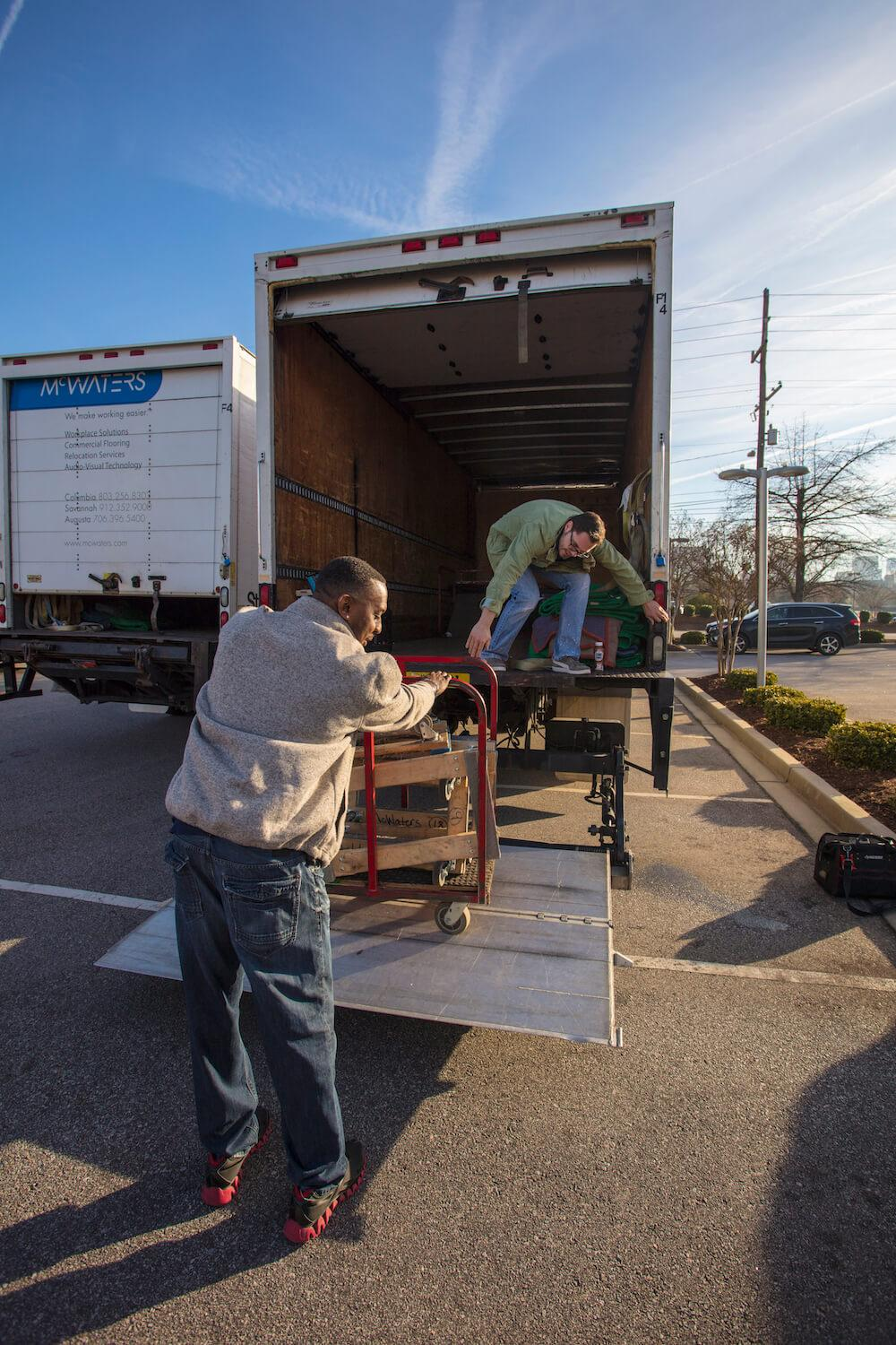 McWaters relocation team loading a truck.