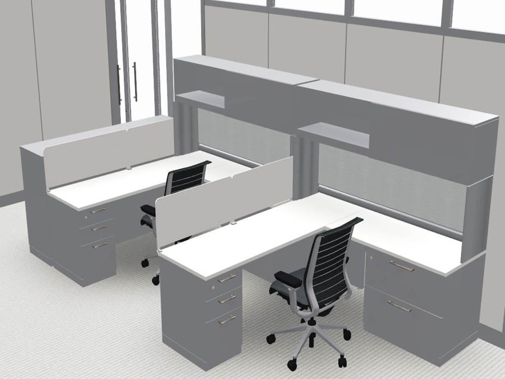 Mock up of two workstations