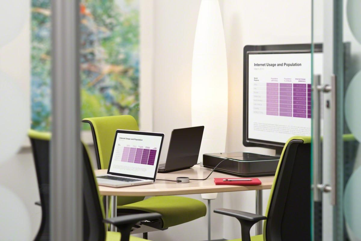 Think Chairs by Steelcase paired with media:scape Mini by Steelcase