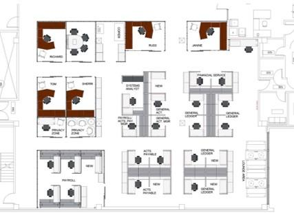 Floor plans of the office
